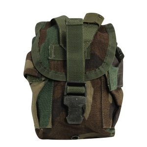1QT MOLLE Canteen Pouch Woodland Camo