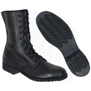 Combat Boots Black Ripple Sole