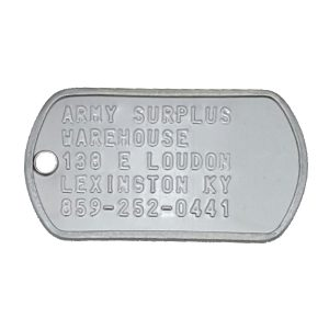 Army Surplus Dog Tags
