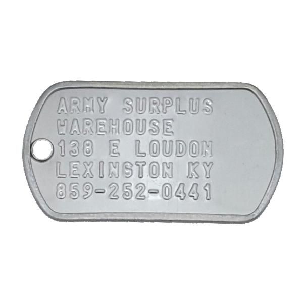 dog tags army surplus warehouse