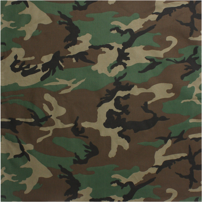 Woodland Camo Bandana-Jumbo | Army Surplus Warehouse